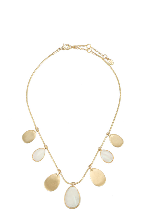 Pearl and Metal Charm Necklace