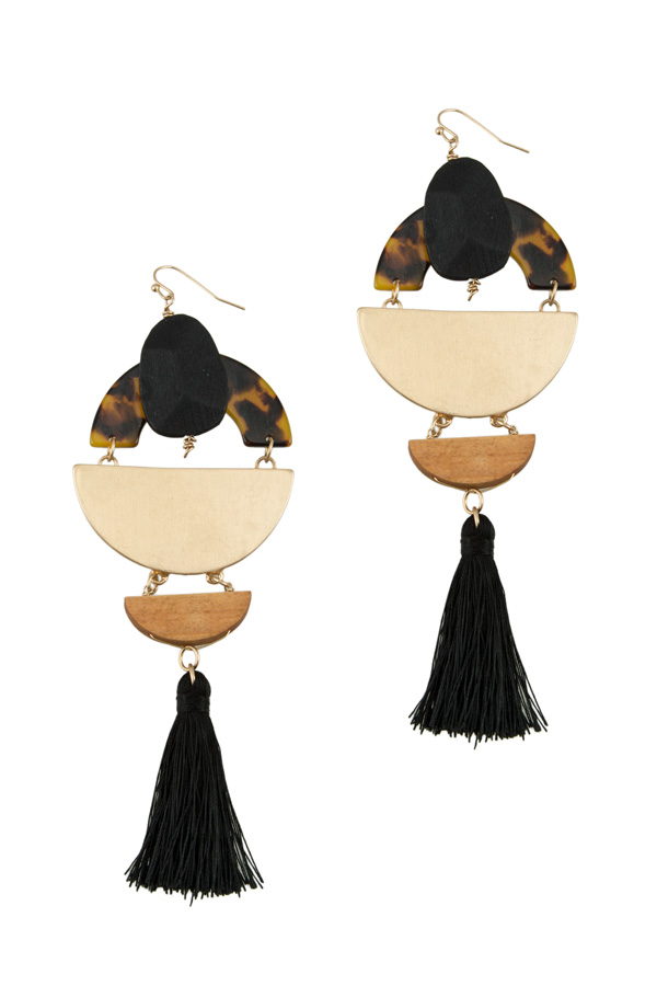 Dangle Tassel Circular Earring
