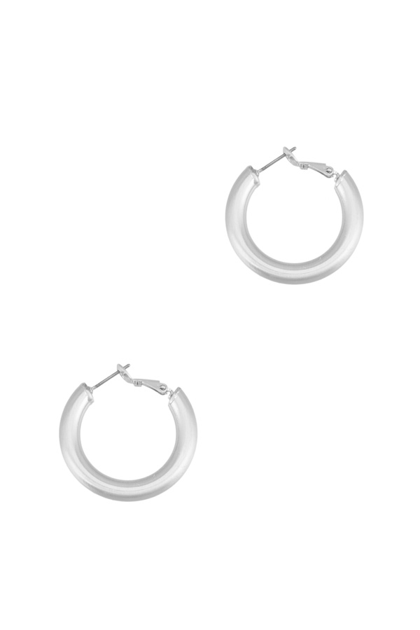 Thick Bushed Hoop Earring