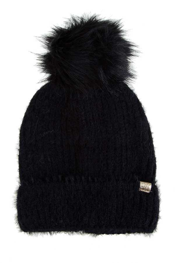 Sable Touch Knit Beanie with Fur Pom