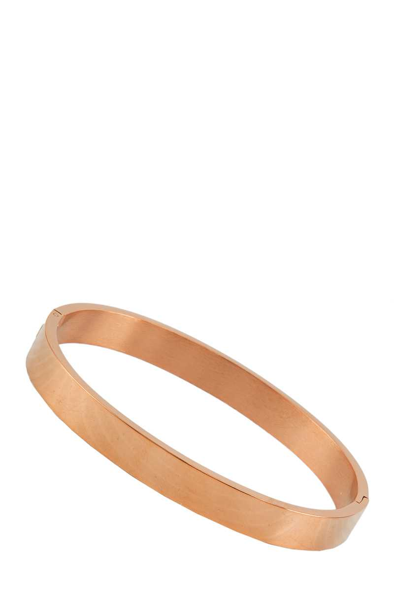 Solid Metal Bangle Bracelet
