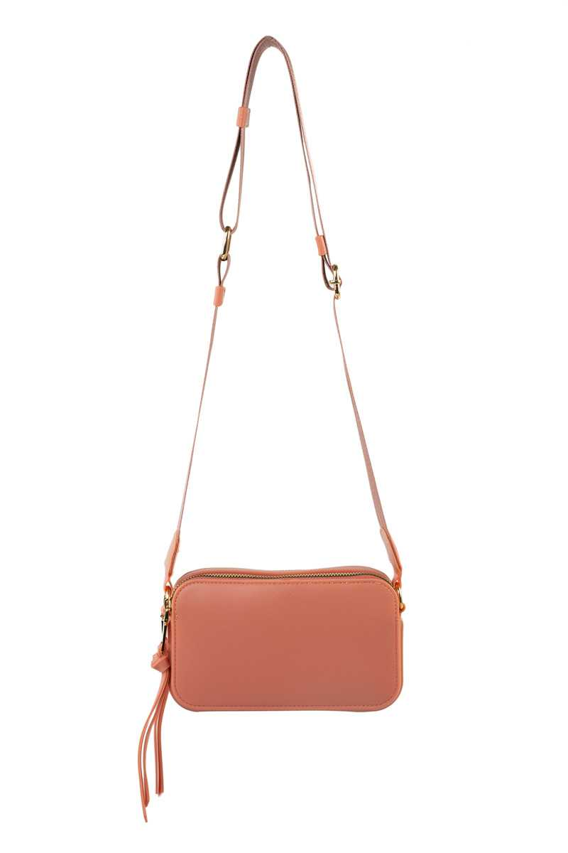 Small Textured Jelly Hand Bag With Polyester Strap