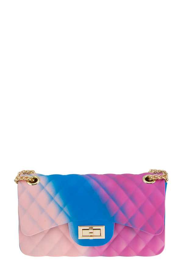 Multi Colored Medium Jelly Crossbody Bag