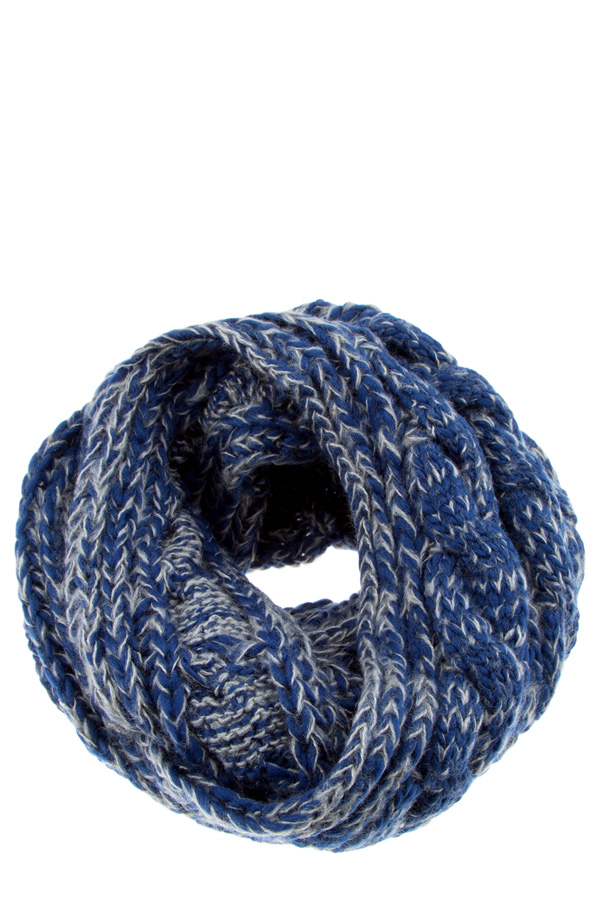 2 tone chunky knitted infinity scarf