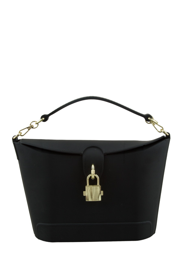 Jelly Top Handle and Crossbody Bag with Locker Accent