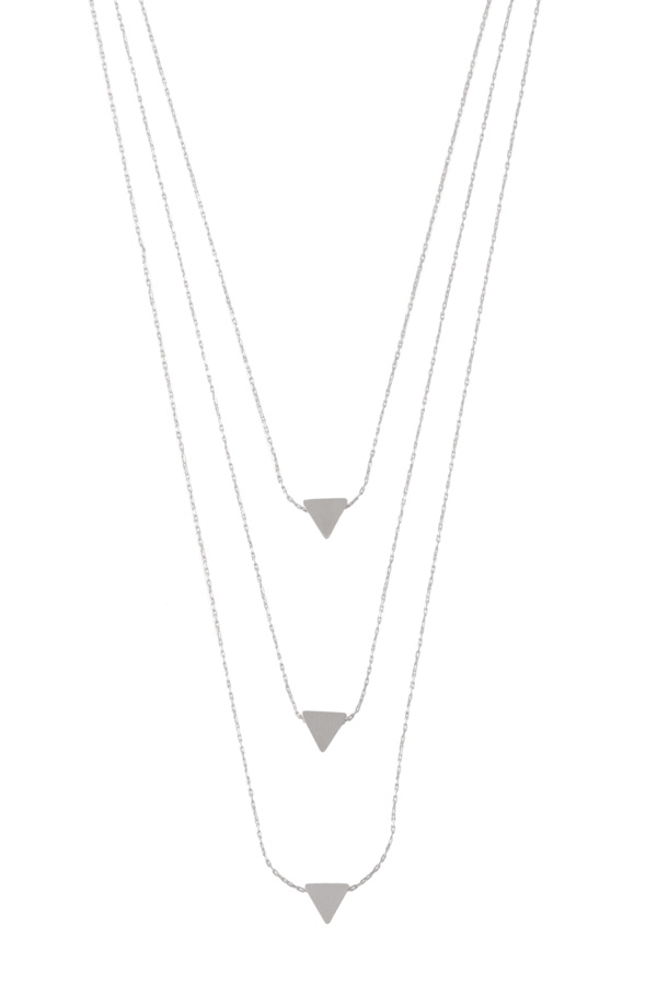 Tres triangulos 2 layer chain necklace