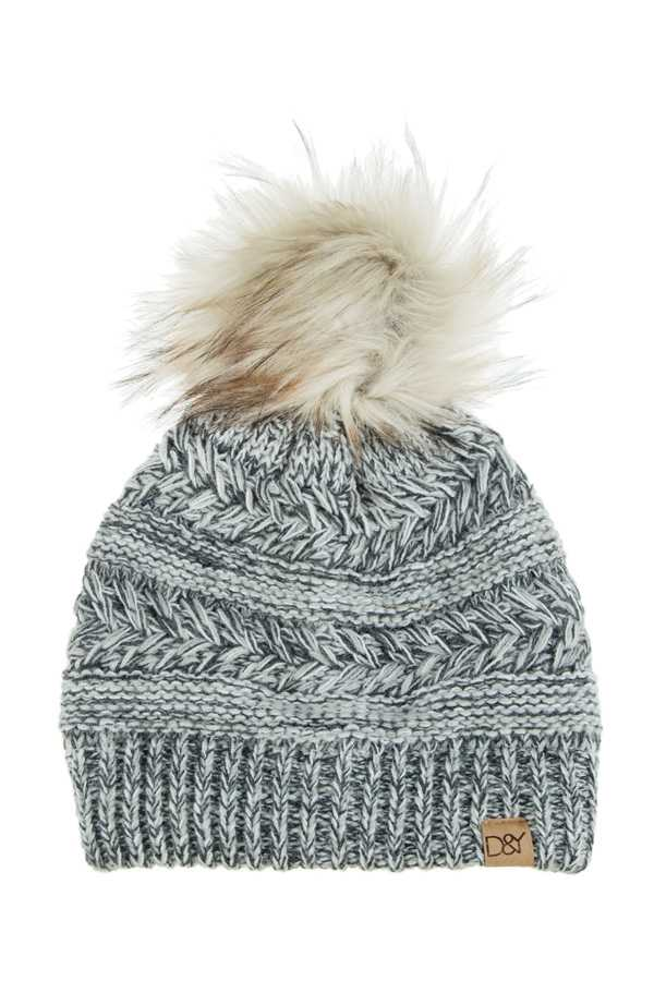 Chevron Halo Ripped Beanie