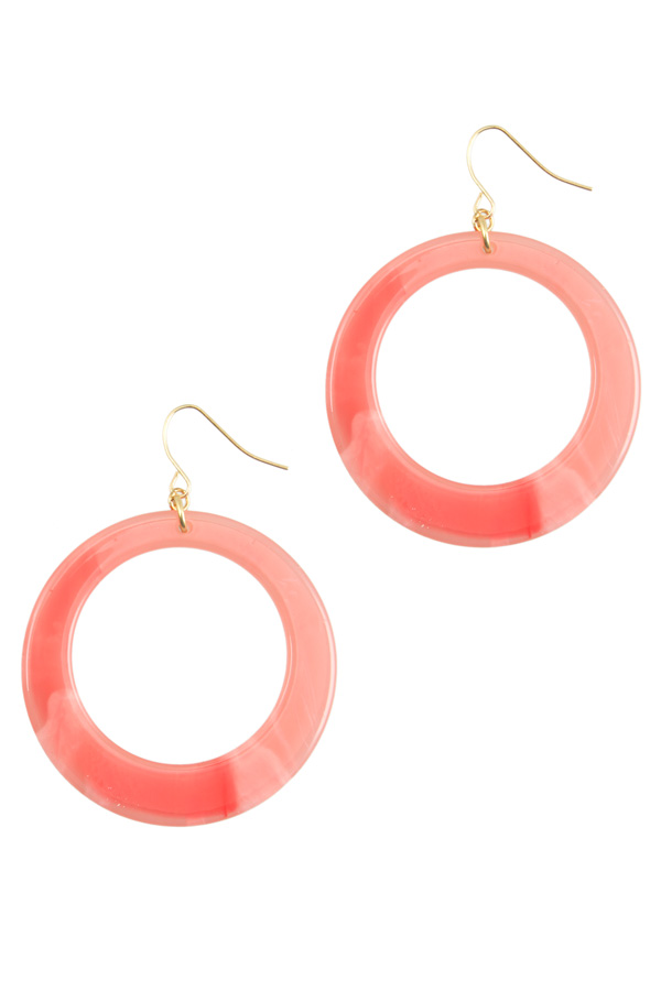 Tortoise Hoop Dangle Earring