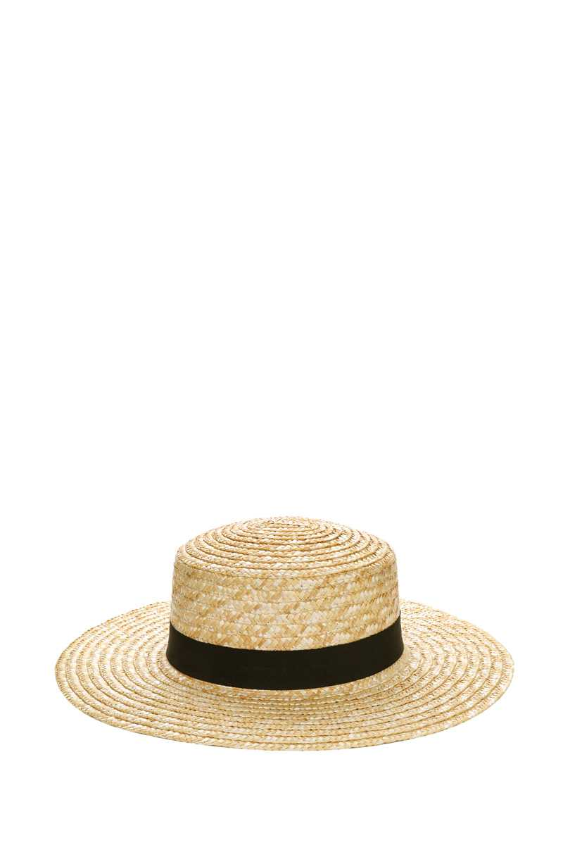 Flat Top Straw Hat