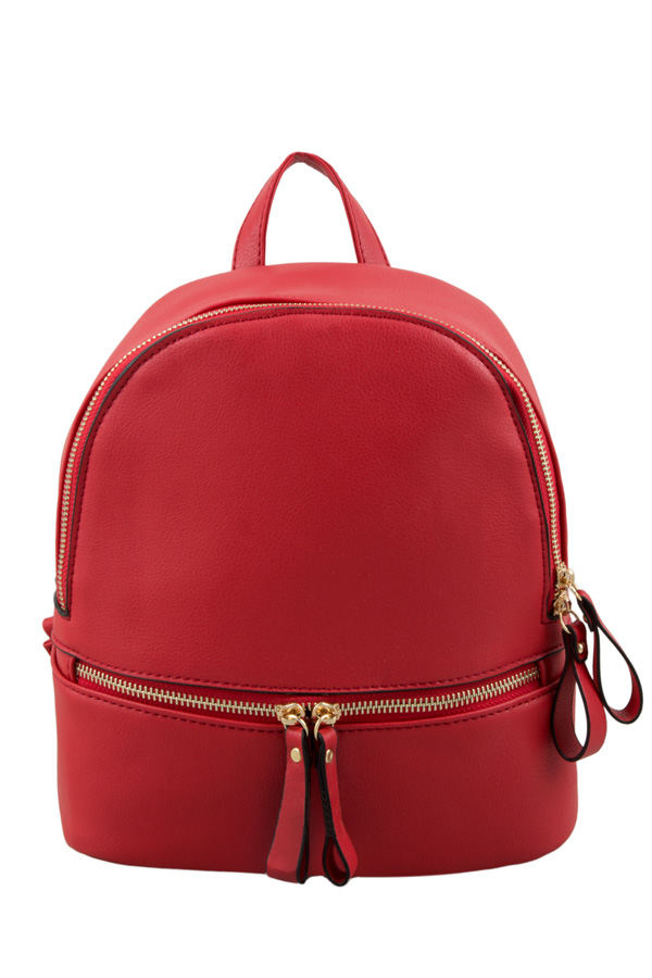 Medium Size Fashion PU Backpack