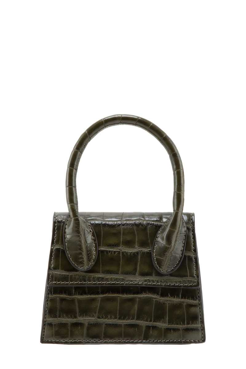 Crocodile Texture Mini Crossbody Bag