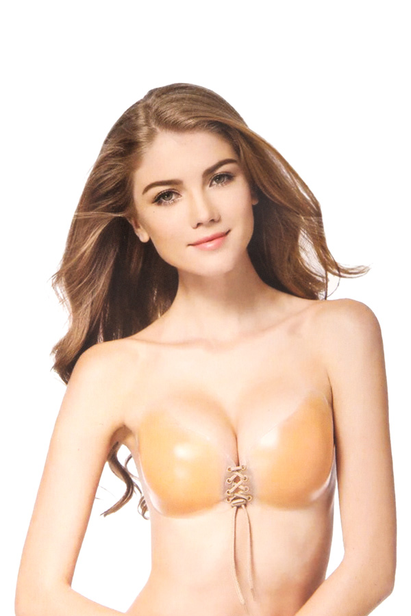 Self-adhesive, strapless, backless, invisible bra