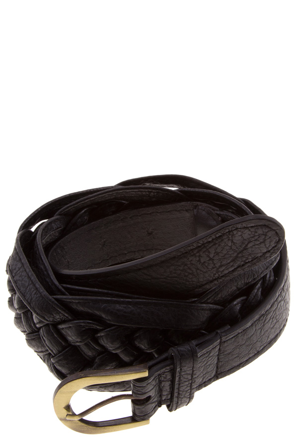 Braided faux leather blet