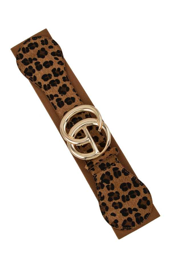 Leopard Elastic Belt with GO Buckle