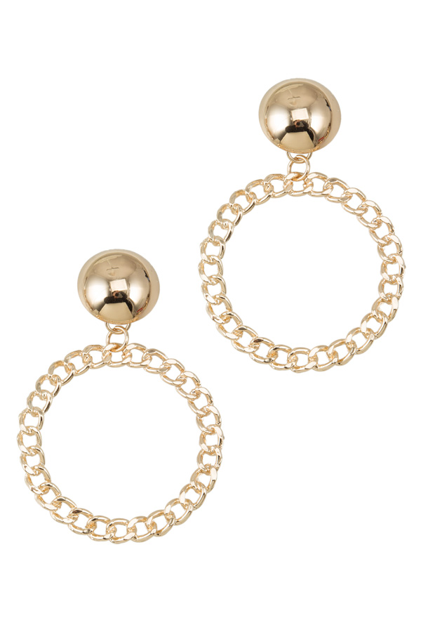Round Shape Chain Earring