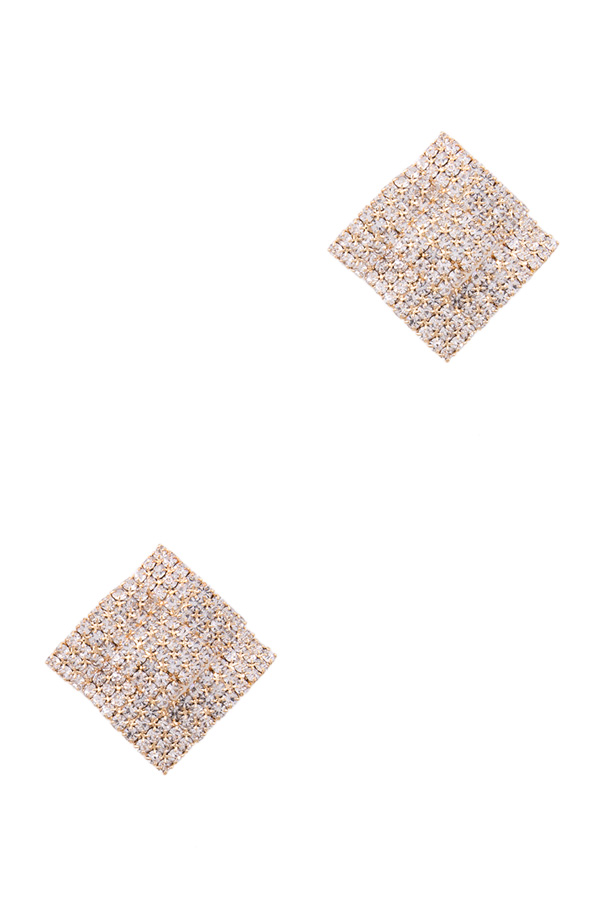 Paved rhinestone earrings