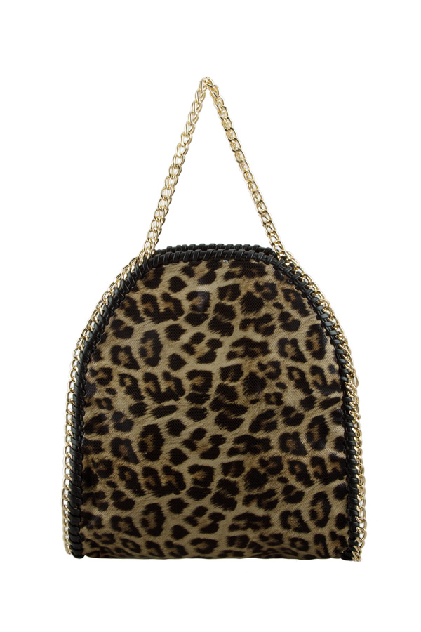 Leopard Print PU Shoulder Bag