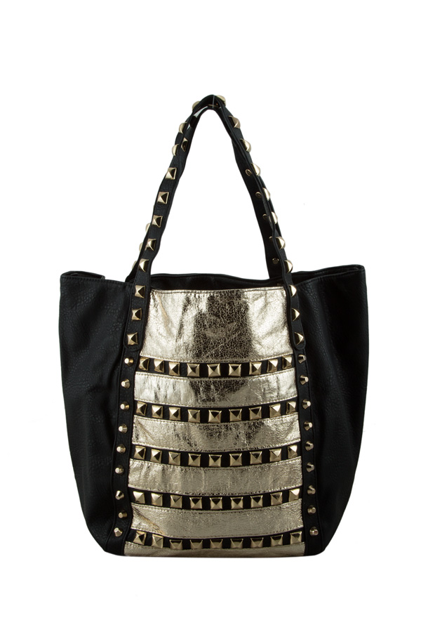 Gold Studded Beach Bag