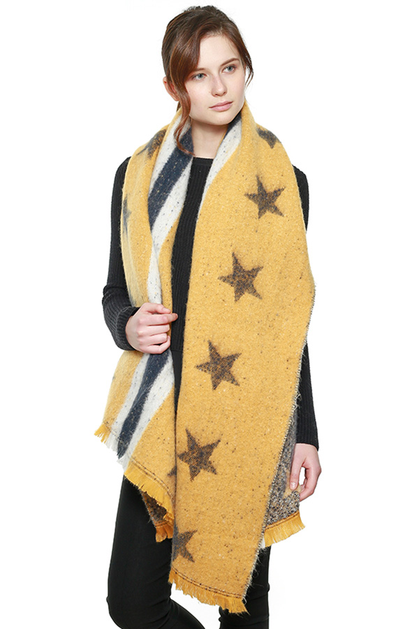 Thick Soft Star Pattern Scarf Shawl