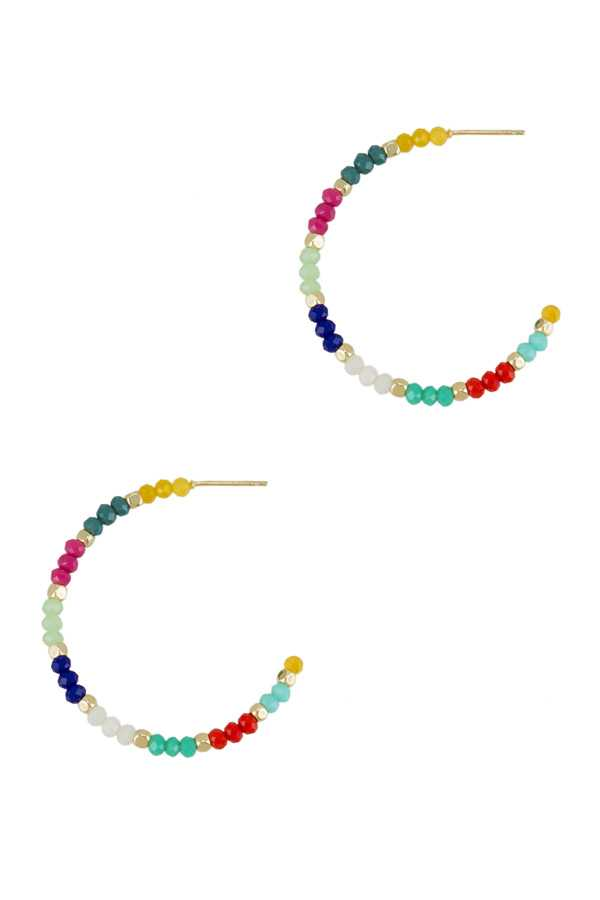 Beads Open Hoop Earring