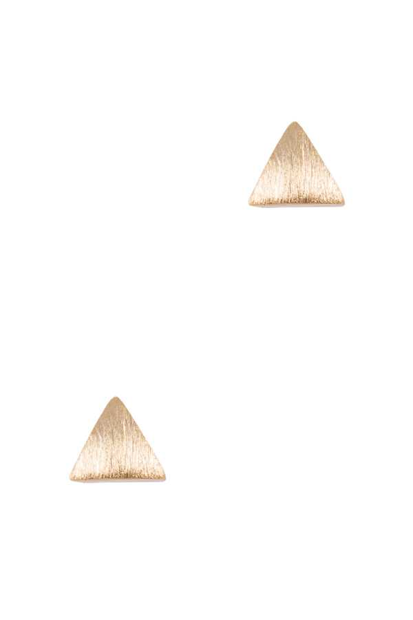 Brushed Texture Triangle Stud Earring