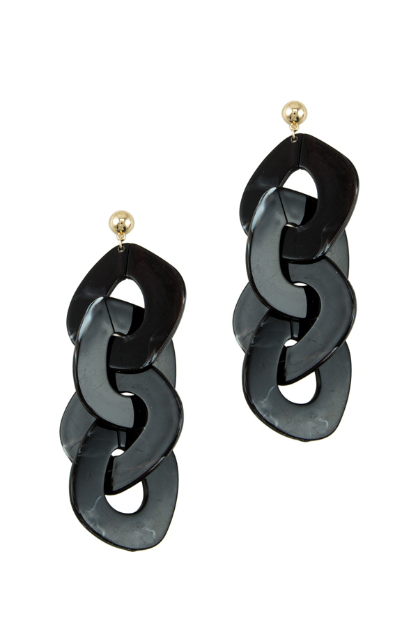 Marbled Plastic Linked Earring