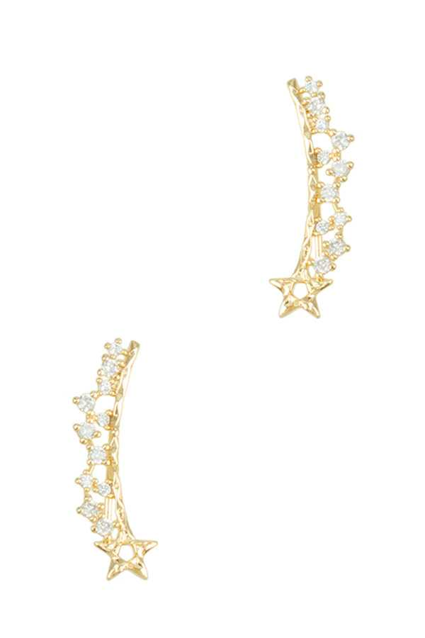Star with Cubic Linked Hook Earring