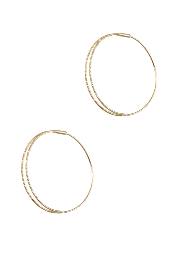 45mm Diamond Cut Hoop Earring