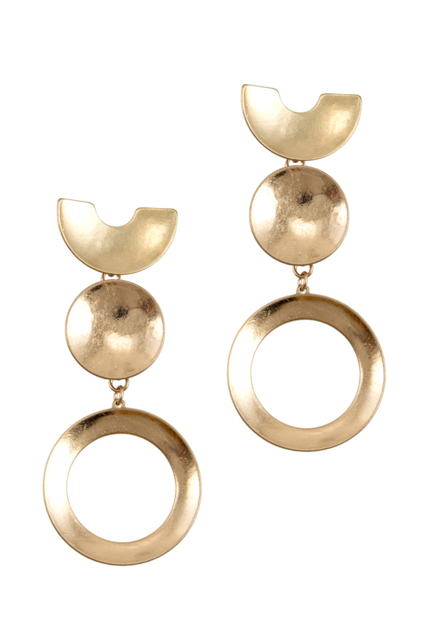 Circular Plate Earrings