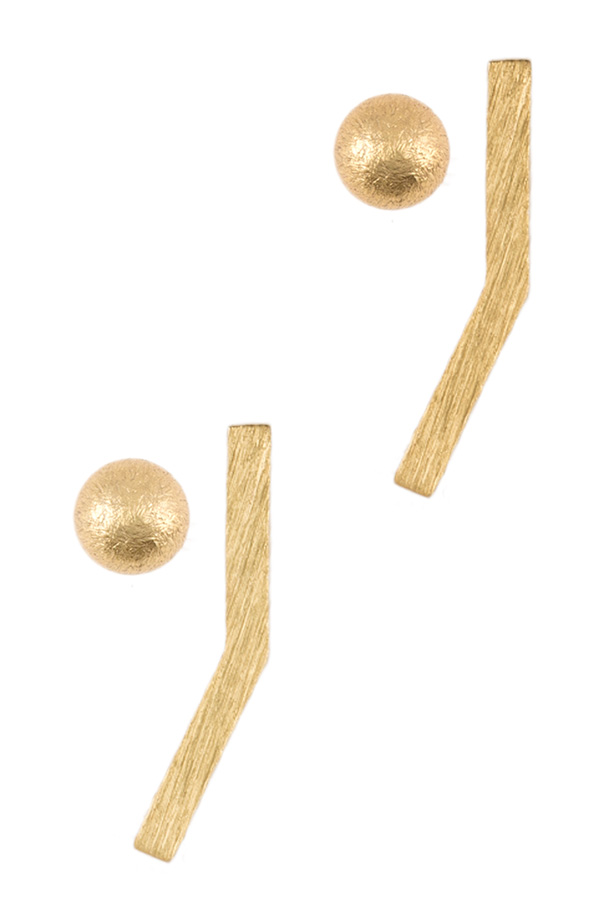Ball and bar post earrings