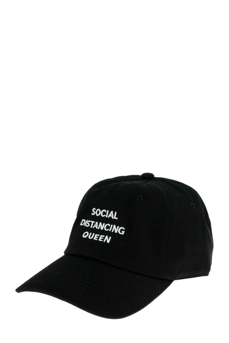 SOCIAL DISTANCING QUEEN Embroidery Cotton Cap