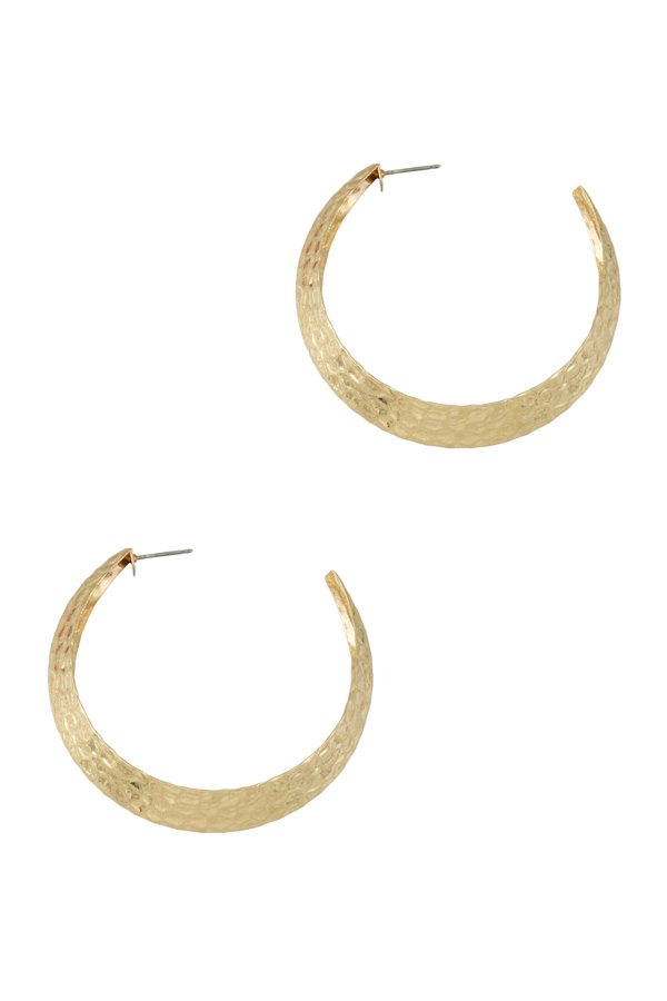 Textured Bold Hoop Earring