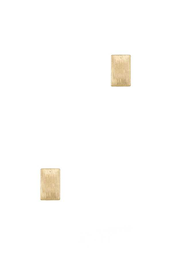 Textured Rectangular Stud Earring