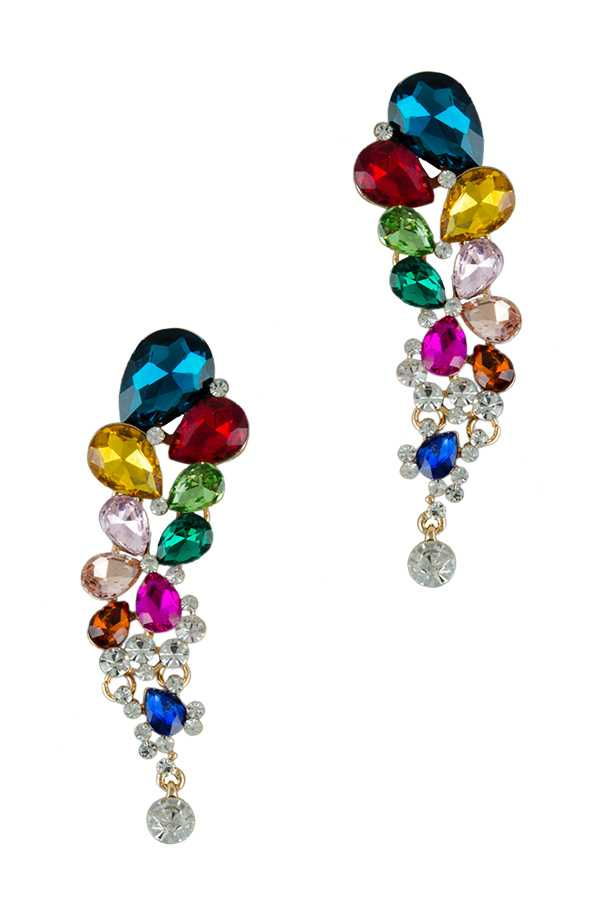 Floral Crystal Statement Earring