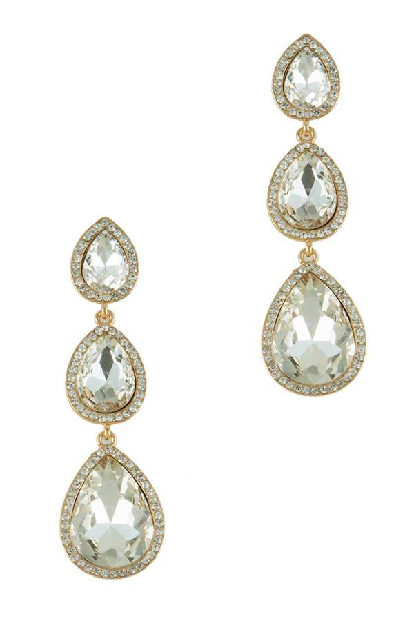 Triple Teardrop Dangling Earring