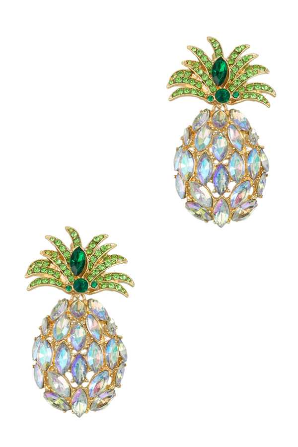 Crystal Pineapple Stud Earring