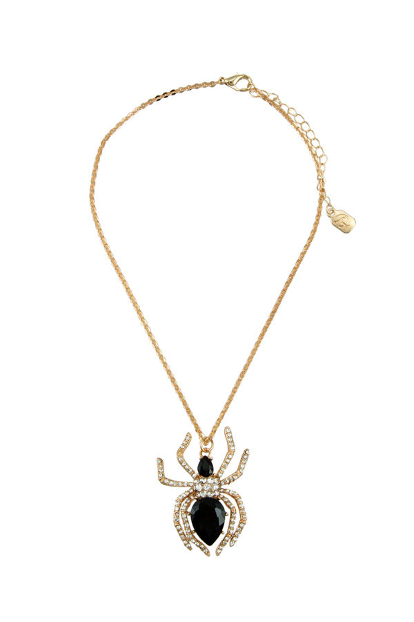 Crystal Spider Pendant Necklace
