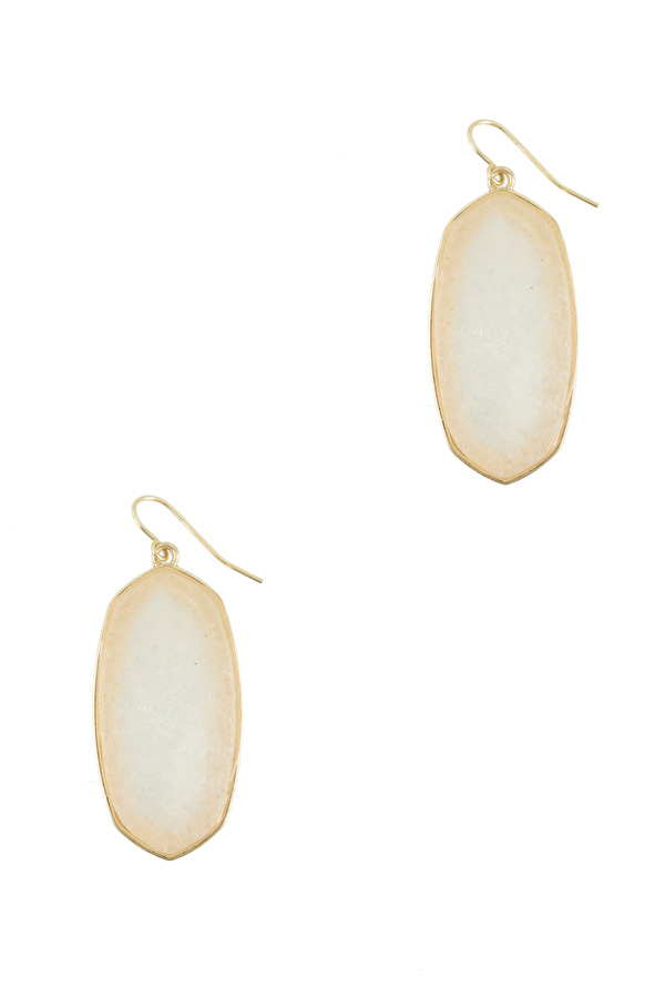 Oval Shape Stone Earring