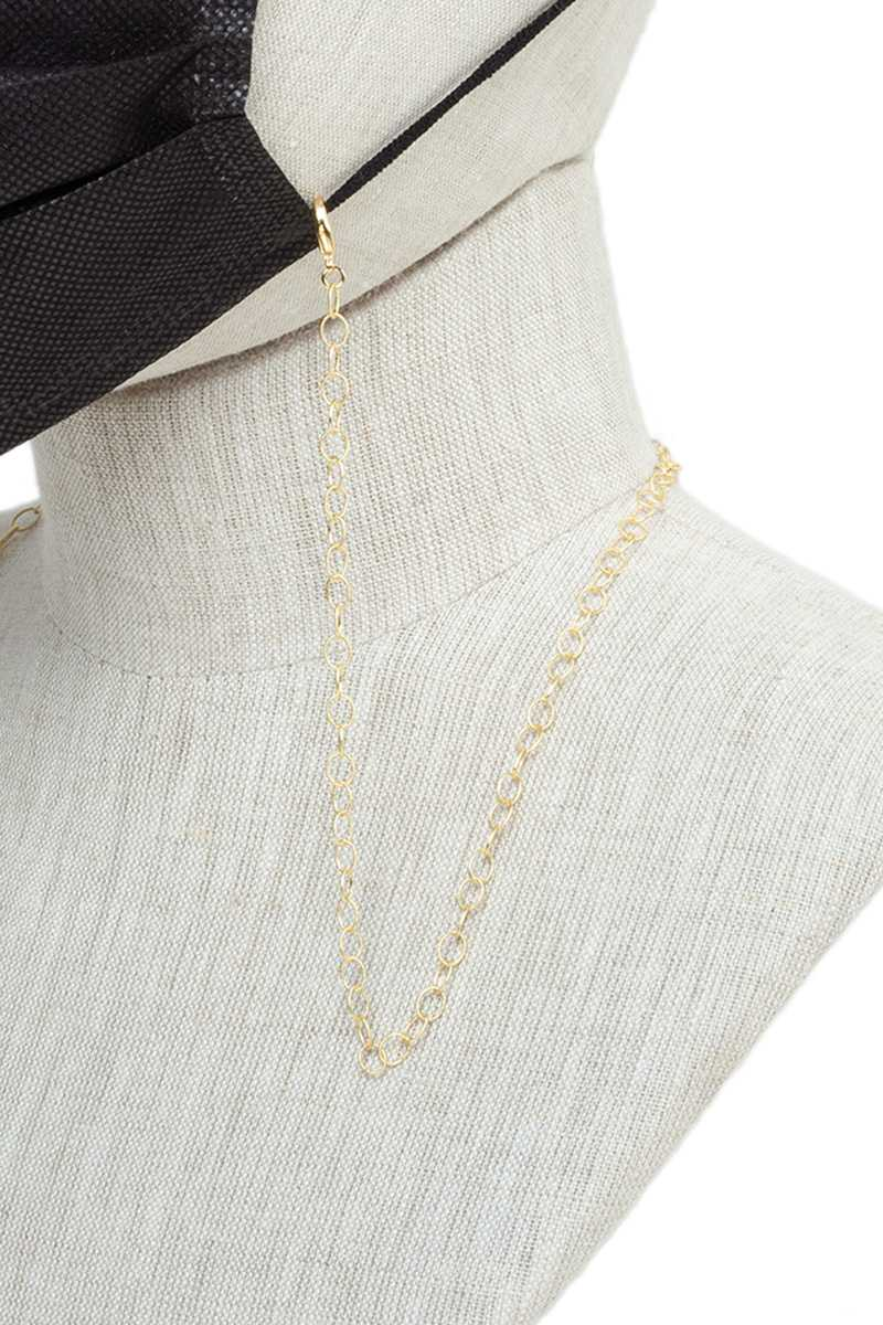 Simple Thin Metal Chain Face Mask Strap