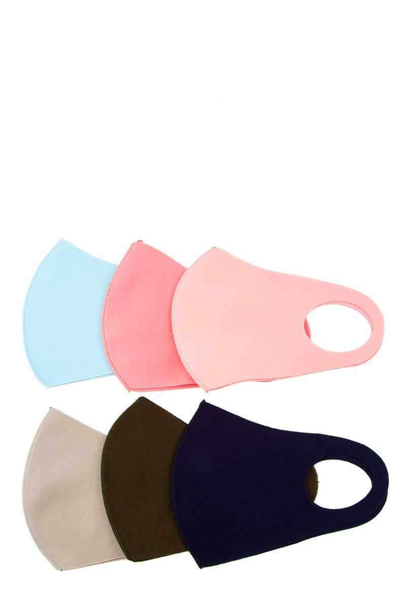 6 Colors Assorted Fashion Mask