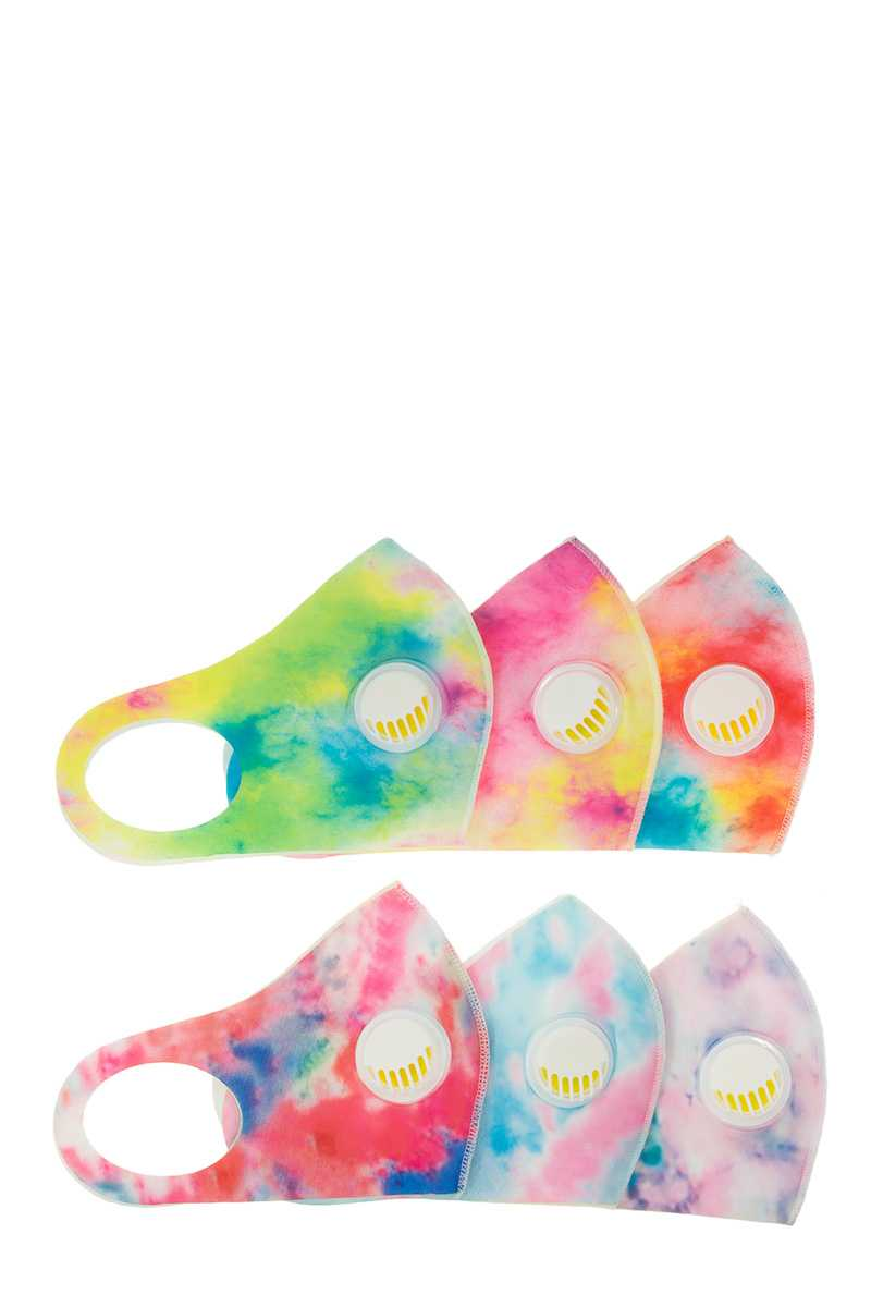 Assorted Tie Dye Colored Face Mask