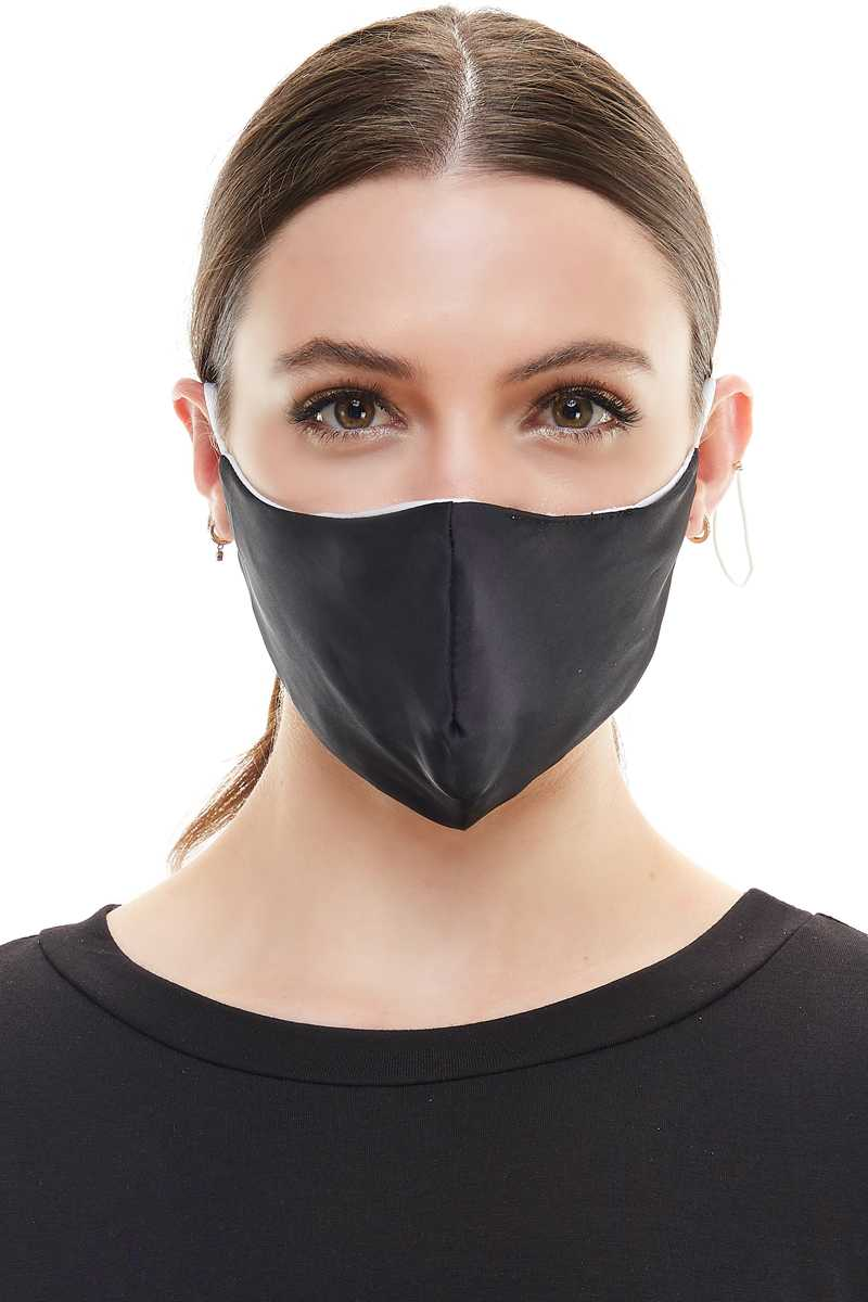 Solid Black Fashion Mask