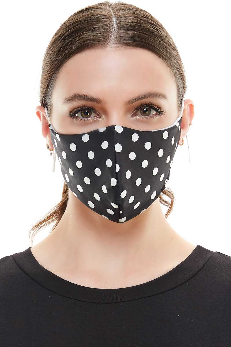 Polka Dot Sequins Fashion Mask