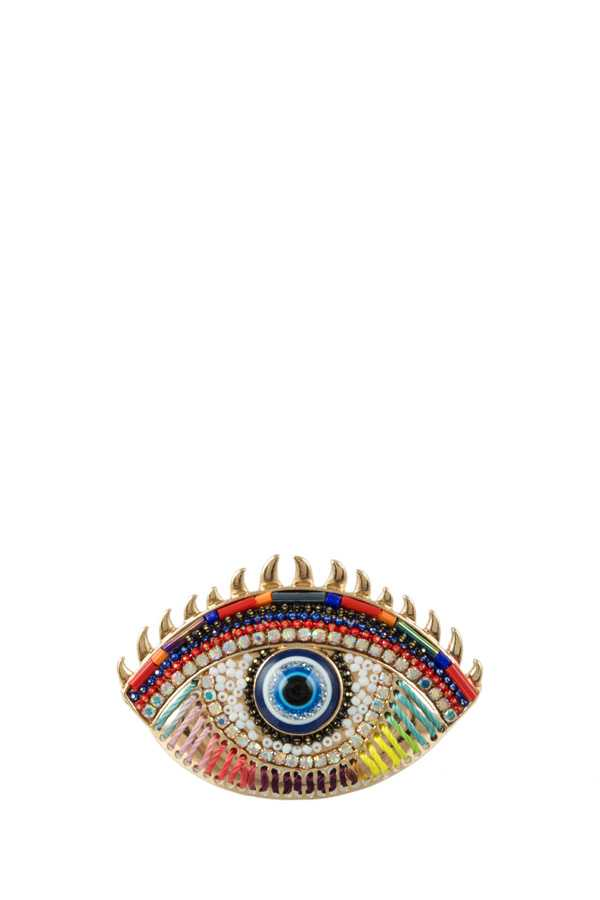 Multiple Decorated Evil Eye Brooch