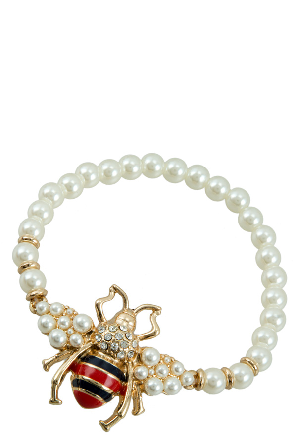 Bumble Bee Pearl Bracelet