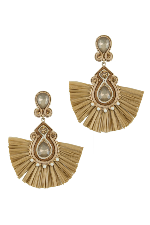 Ornate Fringe Earring