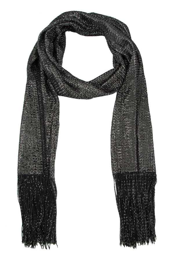 Shimmer and Shine Scarf with Fringe