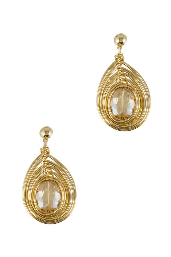 Teardrop Shape Wired Drop Earring