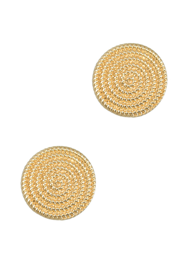 Texture Circle Clip on Earring