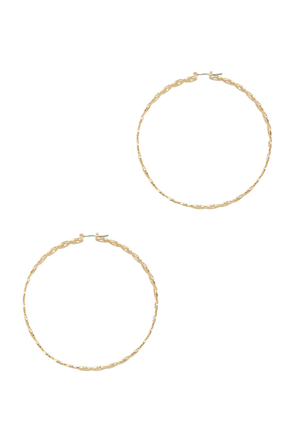 70mm Hoop Earring with Small Circle